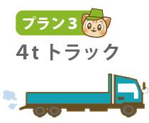 プラン3:4tトラックに積み放題